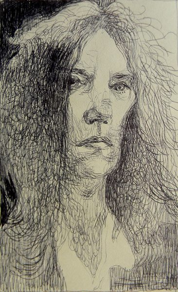 Patty Smith - ink on paper