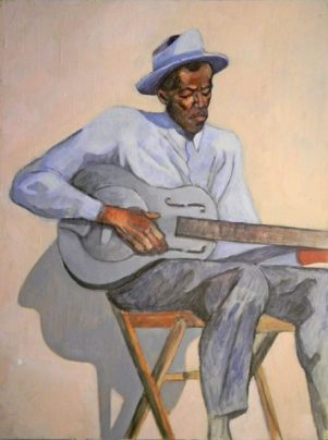 Son House - acrylic on wood