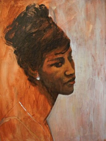 Aretha Franklin - acrylic on canvas