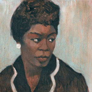 Sarah Vaughan - acrylic on canvas
