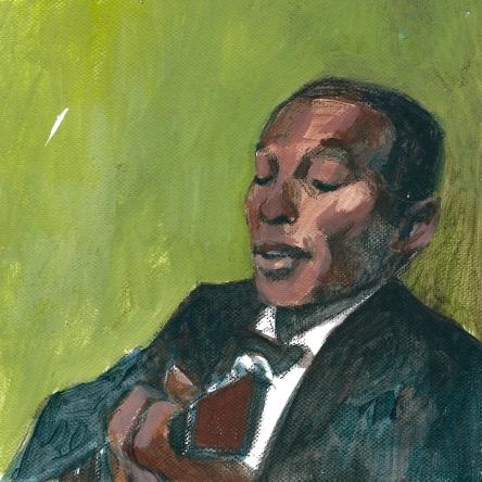 Skip James - acrylic on canvas