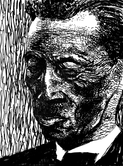 Fred mc Dowell - ink on paper