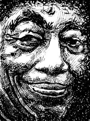 John Hurt - ink on paper