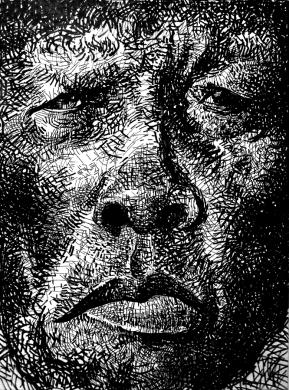 John Lee Hooker - ink on paper