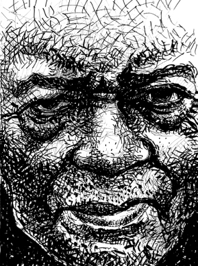 R.L. Burnside- ink on paper
